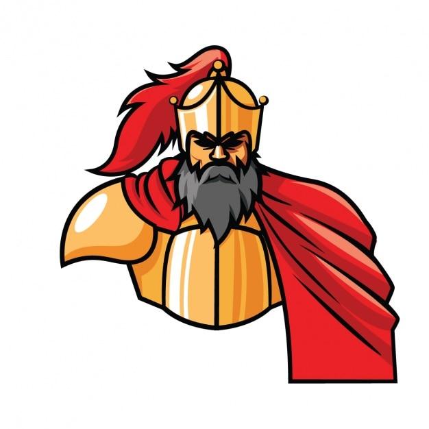 coloured warrior design vector free download