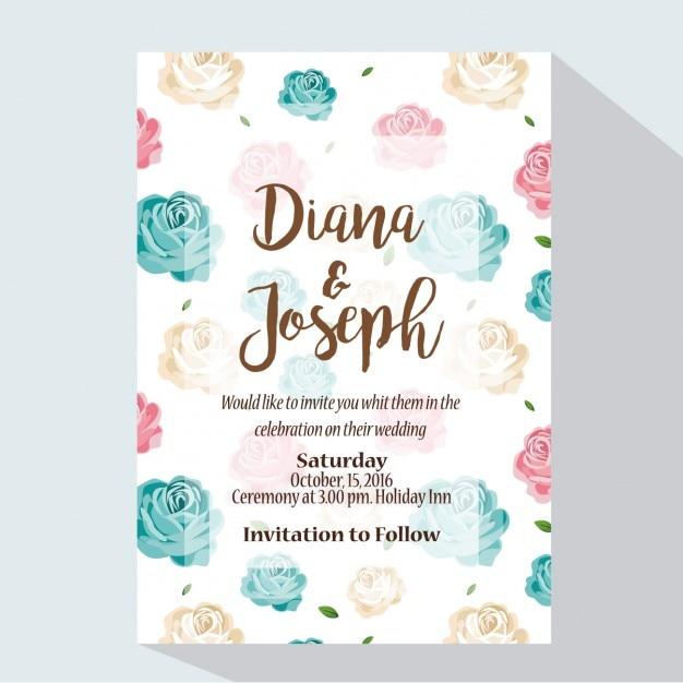 Coloured wedding invitation design vector free download coloured wedding invitation design free vector stopboris Images