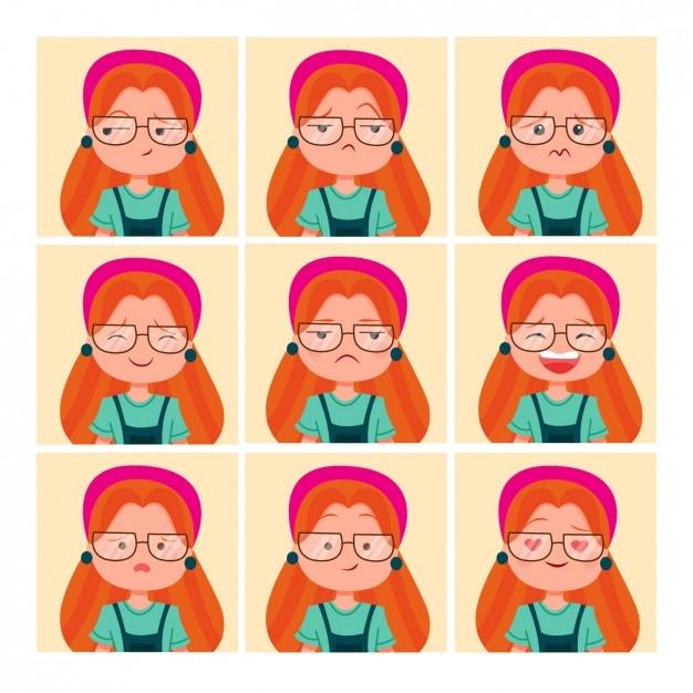 Coloured woman avatars