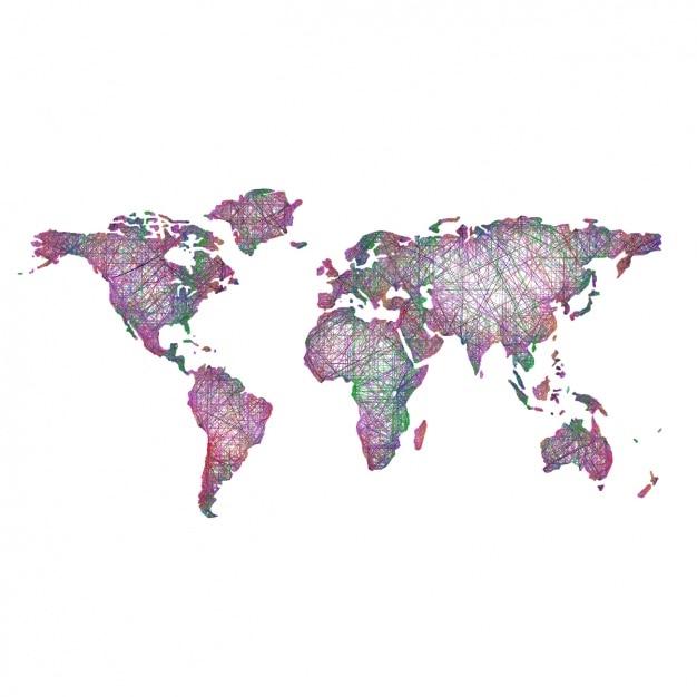 Coloured world map design vector free download for Map designer free