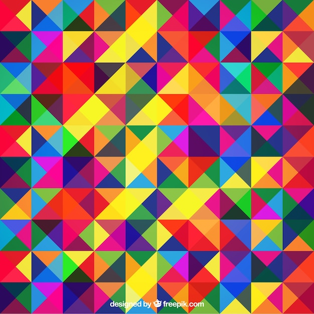 Colourful abstract background with triangles Free Vector