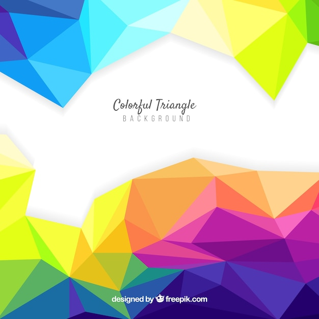 Colourful abstract background with\ triangles