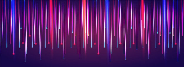 Colourful abstract laser light falling motion background. Premium Vector