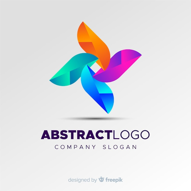 Colourful abstract logo template Free Vector