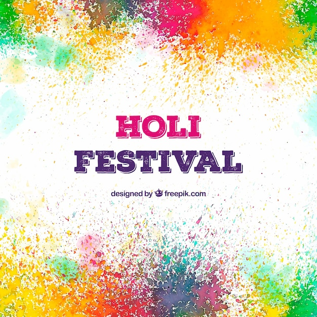 Colourful background for holi festival Vector Free Download