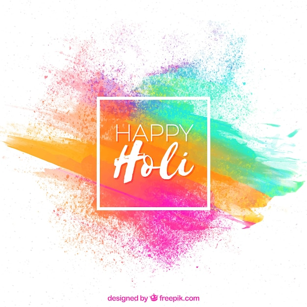 Colourful background happy holi Free Vector