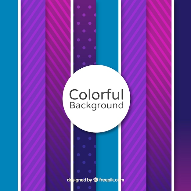 Colourful background with purple lines