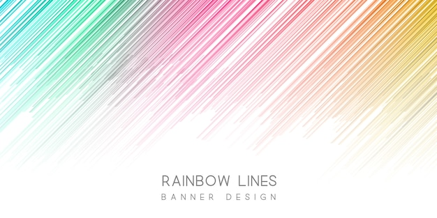 Colourful banner Free Vector