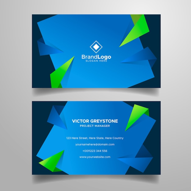 Colourful business card template Free Vector