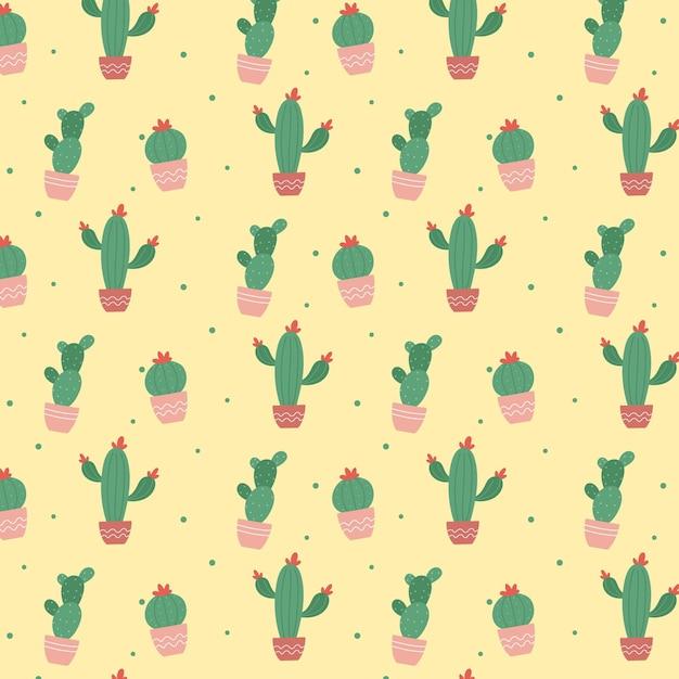 Modello di pianta di cactus colorato Vettore gratuito