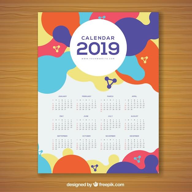 free download calendar 2019 vector