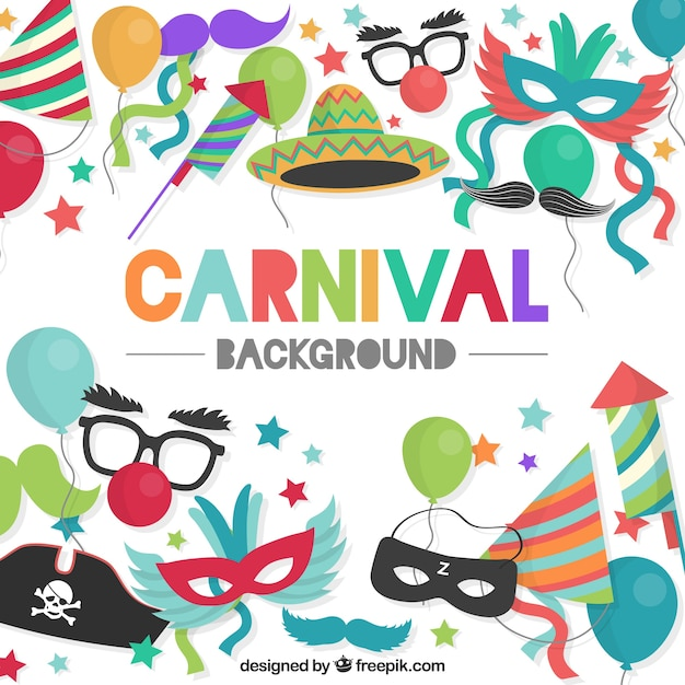 Colourful carnival background  Free Vector