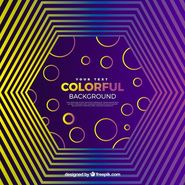 Colourful geometric background in purple and yellow