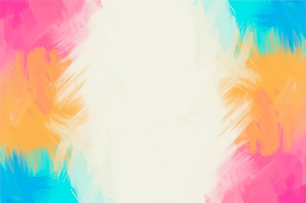 Colourful hand painted frame background and white copy space Free Vector