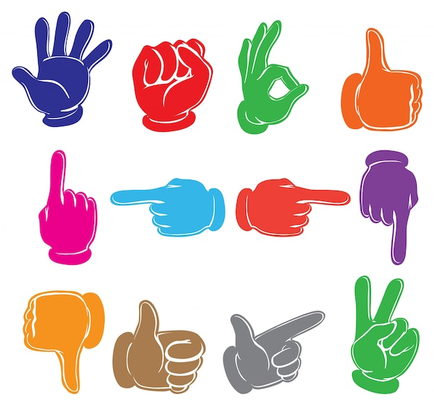 Colourful hands Free Vector