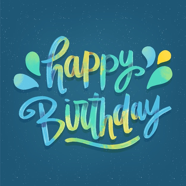 Colourful happy birthday lettering Free Vector