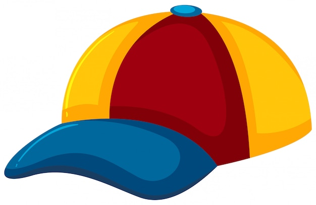 A colourful hat on white background Premium Vector