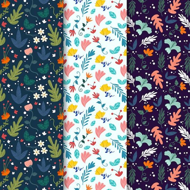 カラフルな葉春のシームレスなパターン 無料ベクター
