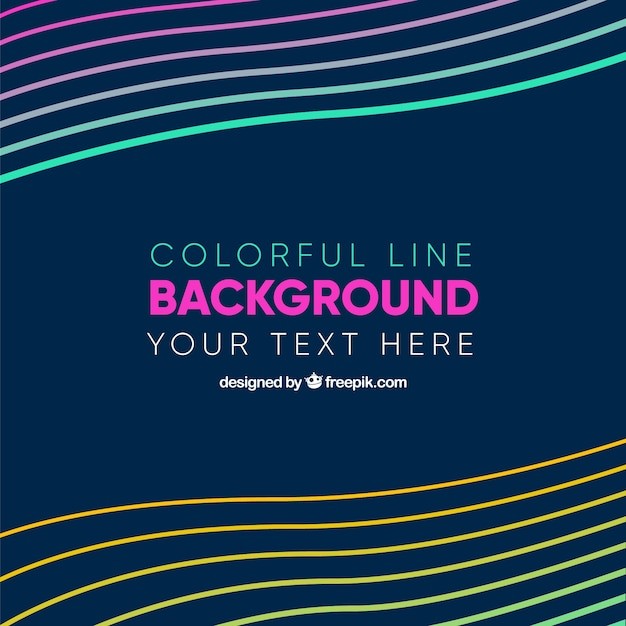 Colourful line background