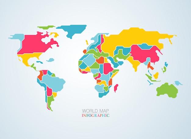 Colourful map Premium Vector