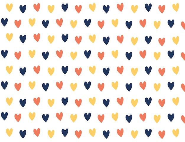 Красочный мини-фон сердца. Premium векторы