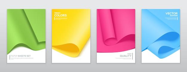 Colourful paper sheets Premium Vector