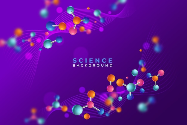 Colourful realistic science background Free Vector