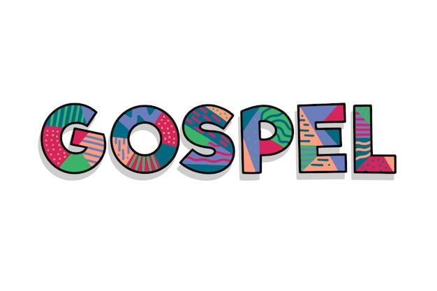 Красочная концепция религиозного евангелия Бесплатные векторы