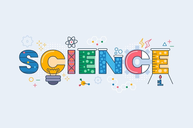 Colourful science work concept Free Vector