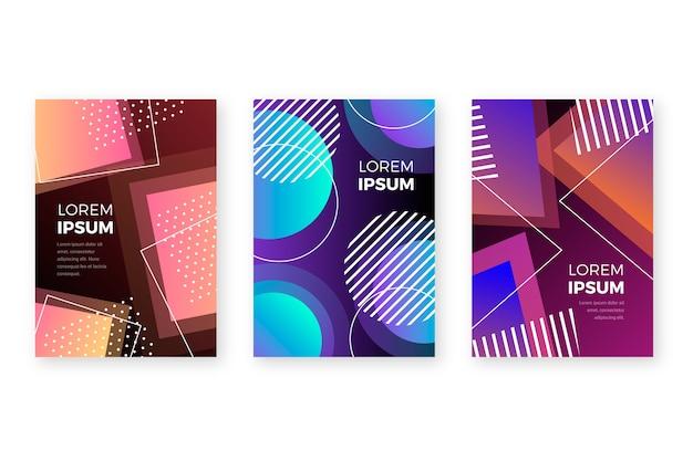 Разноцветные формы обложек для флаеров Бесплатные векторы