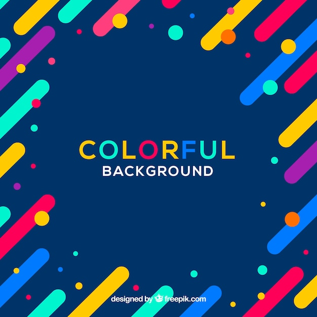 Colourful Simple Background With A Frame Vector Free