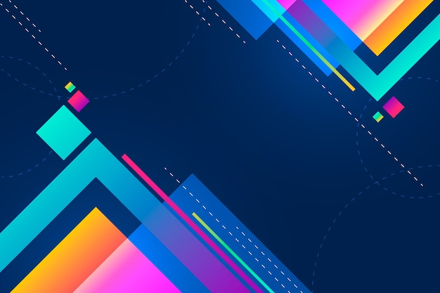 Colourful sizes of gradient squares background with copy space Free Vector