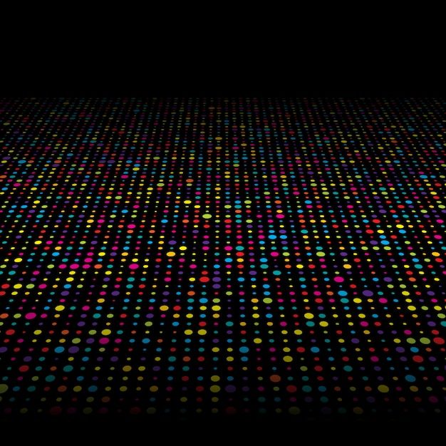 Colourful techno dots background Free Vector