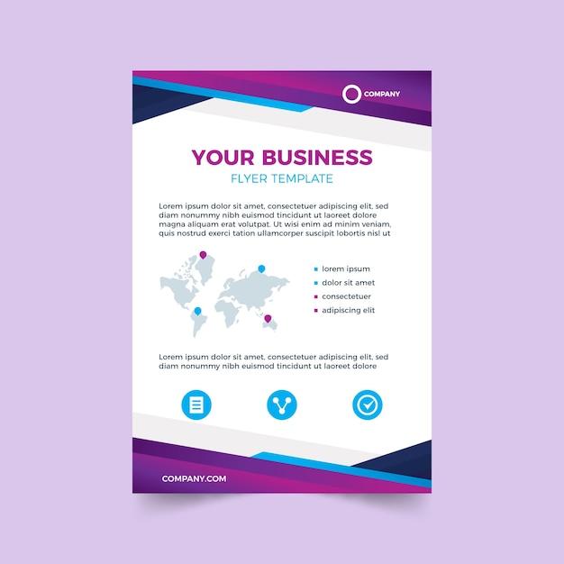 Красочный шаблон для бизнес-флаера Premium векторы