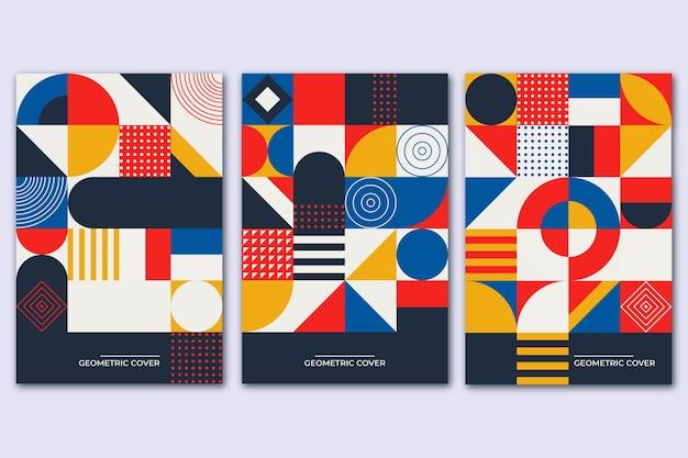 Красочная винтажная обложка для коллекции книг Premium векторы