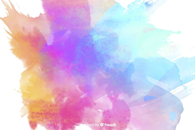 Colourful watercolor stains background Free Vector