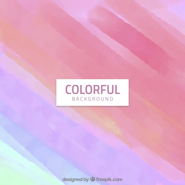 Colourful watercolour background