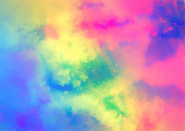 Colourful watercolour texture Free Vector