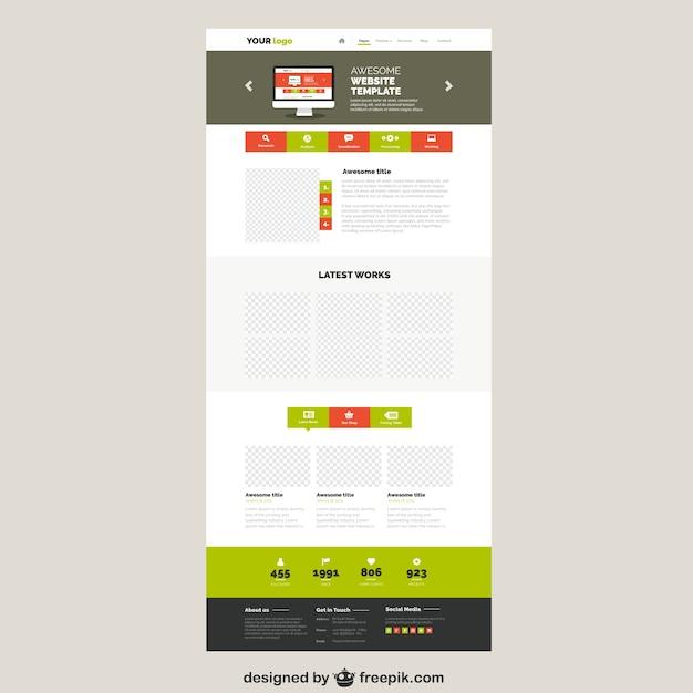 Colourful website template Vector | Premium Download