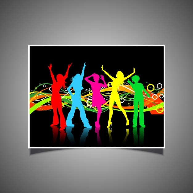 Colourful women dancing poster