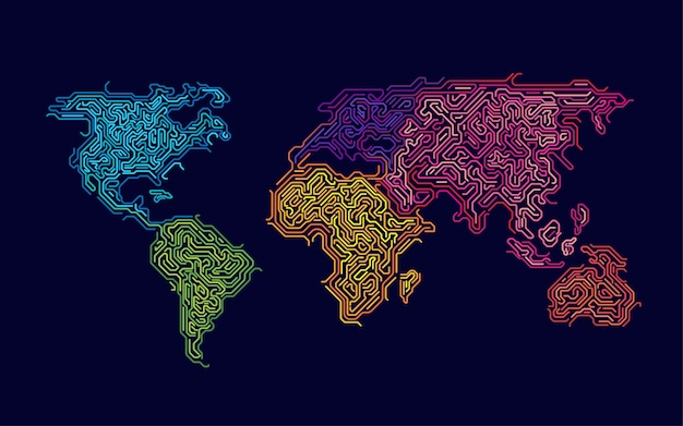 Colourful world Premium Vector