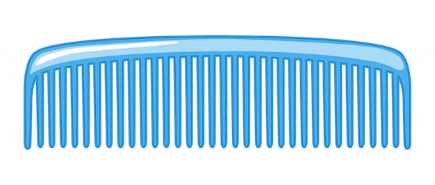 A comb isolated Free Vector