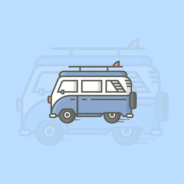Combi car Premium Vector