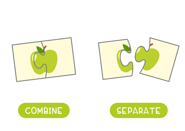 Combine and separate opposites concept Free Vector