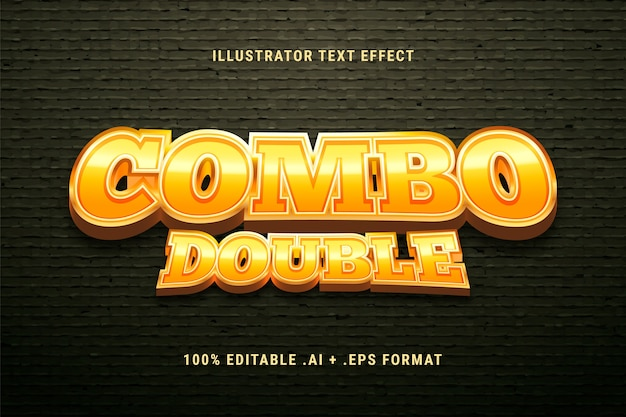 Combo double text effect Free Vector