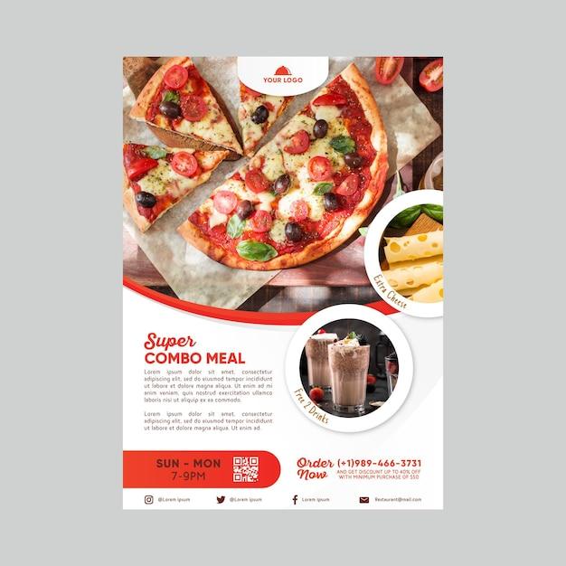 Шаблон плаката со скидкой на комбинированные блюда Бесплатные векторы