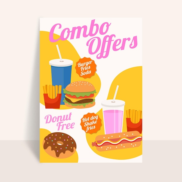 Combo meals - poster Free Vector