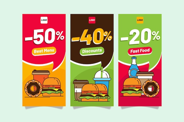 Combo offers - banners Free Vector