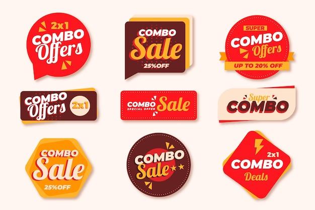 Комбо предлагает коллекцию этикеток Premium векторы