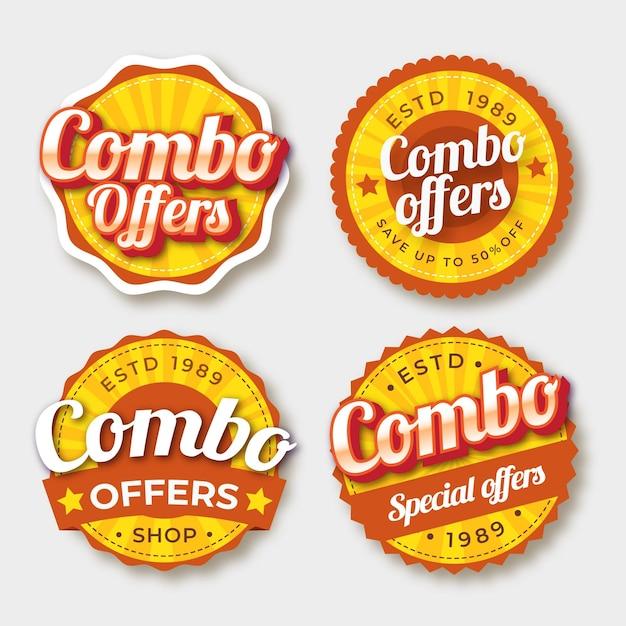 Комбо предлагает набор наклеек Premium векторы
